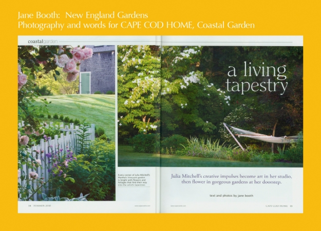 Julia Mitchell might be known for her fine tapestries but she also excels as a self taught gardener
