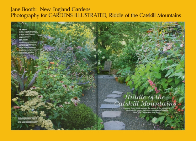 Dean Riddle's Catskill gardens are amazing.  I was blessed to be given the opportunity to photograph them for the greatest garden magazine in the world, Gardens Illustrated.