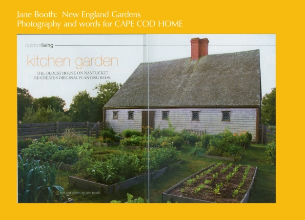 The Nantucket Historical Association's Oldest House may be a seventeenth-century jewel of antiquity, but the sweet kitchen garden at the 1686 Jethro Coffin saltbox is the apple of my eye.