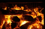 A hot fire is needed to boil sap in the evaporator pan